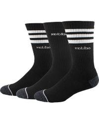 adidas 3-stripe Crew Sock - 3 Pack - Black