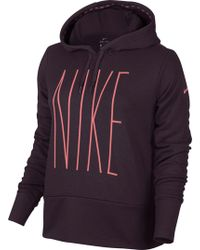 Nike - Therma Skinny Graphic Hoodie - Lyst