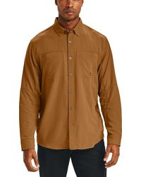 Under Armour Payload Button Down Shirt - Brown