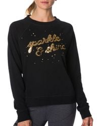 Betsey Johnson - Performance Sparkle Shine Sequin Sweatshirt - Lyst