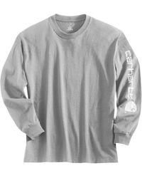 9f9e97d82 Carhartt Graphic Logo Long Sleeve Shirt in Orange for Men - Lyst