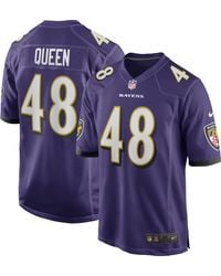 Nike - Baltimore Ravens Patrick Queen #48 Purple Game Jersey - Lyst