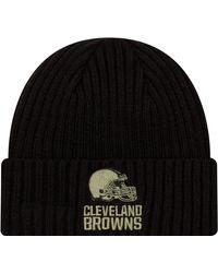 KTZ Salute To Service Cleveland Browns Black Knit Hat