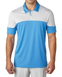 adidas Climachill Blocked Golf Polo - Blue