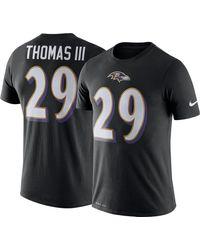 Nike Baltimore Ravens Earl Thomas #29 Logo Black T-shirt