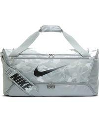 Nike Brasilia Medium Printed Training Duffel Bag - Black