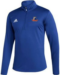 adidas Morgan State Bears Blue Under The Lights Quarter-zip Pullover