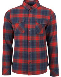 United By Blue Bridger Flannel Long Sleeve Shirt - Red