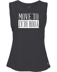 Soffe - Oyfriend Move To Your Beat Graphic Tank Top - Lyst
