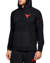Under Armour Project Rock Snake Graphic Terry Fleece Hoodie - Black