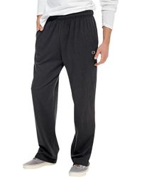 54b90f08b10e Lyst - Champion P7309 Authentic Open Bottom Jersey Pant in Black for Men