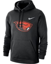 Nike - Oregon State Beavers Club Fleece Pullover Black Hoodie - Lyst