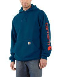 Carhartt   Midweight Hooded Logo Sleeve Sweatshirt   Lyst