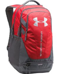 Under Armour - Red 'hustle 3.0' Backpack - Lyst