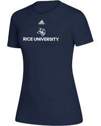 adidas - Rice Owls Creator Blue T-shirt - Lyst