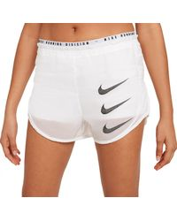 Nike Tempo Luxe Run Division 2-in-1 Running Shorts - White