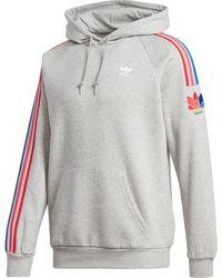 adidas Originals 3d Trefoil 3-stripes Hoodie - Gray