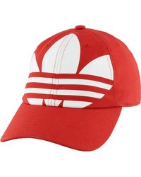 adidas Originals Relaxed Big Trefoil Hat - Red