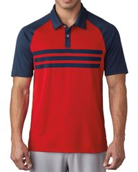 Adidas | Climacool® 3-stripes Competition Golf Polo | Lyst