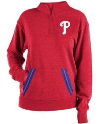 KTZ Philadelphia Phillies Hooded Quarter-zip - Red
