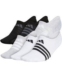 adidas Superlite Super No Show Socks - 6 Pack - Black