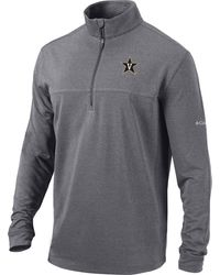 Columbia Vanderbilt Commodores Gray Omni-wick Soar Half-zip Pullover Shirt