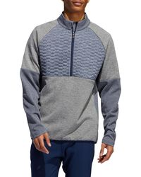 adidas Quilted Frostguard 1⁄4 Zip Golf Pullover - Gray