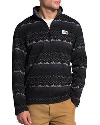 The North Face Gordon Lyons Novelty 1/4 Zip Pullover - Black