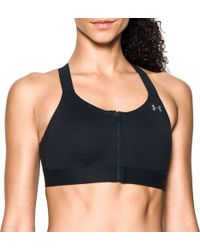 Under Armour Eclipse Zip Front High-impact Sports Bra - Black