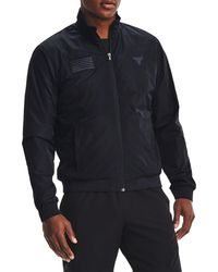 Under Armour Project Rock Veteran's Day Full-zip Jacket - Black