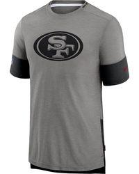 Nike - San Francisco 49ers Grey Sideline Player T-shirt - Lyst
