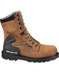 Carhartt Bison 8'' Waterproof Work Boots - Brown
