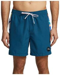 Quiksilver Arch Print Volley Board Shorts - Blue