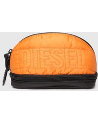 DIESEL - Puffy Nylon Pouch With Satiny Finish - Lyst