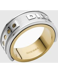 DIESEL Dx1214 Ombre Two-tone Stainless Steel Ring - Metallic