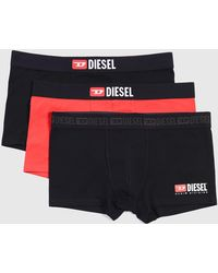 DIESEL - Three-pack Of Boxer Briefs With Logo - Lyst