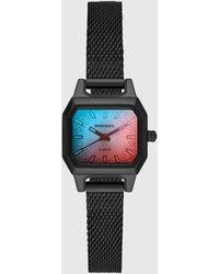 DIESEL - Callie Black Stainless Steel Mesh Bracelet Watch 24mm - Lyst