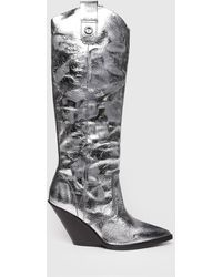 DIESEL - Cowboy Boots In Laminated Leather - Lyst