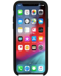 DIESEL - Black Leather Diagonal Logo Case, Iphone Xs Max - Lyst