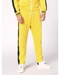 DIESEL - Triacetate Pants With Side Bands - Lyst