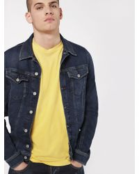 DIESEL - JoggJeans Fabric Jacket With Abrasions - Lyst