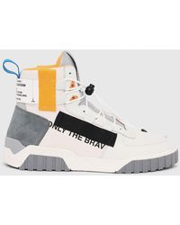 DIESEL S-rua Mid Sp High-top Sneakers With toggle Laces - White