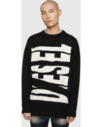 DIESEL K-logox-a Sweater In Black With Broken Text