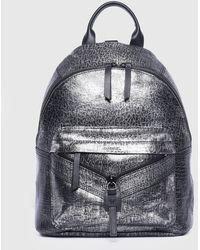 DIESEL - Crackle Silver Backpack - Lyst