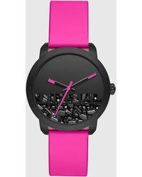 DIESEL - Dz5590 Flare Rocks Three-hand Pink Leather Watch - Lyst