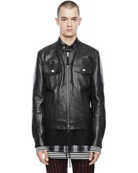 DIESEL Lanpatch Leather Jacket With Tonal Patches - Black