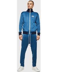 DIESEL S-elmar Printed Triacetate Zip-up Sweatshirt - Blue
