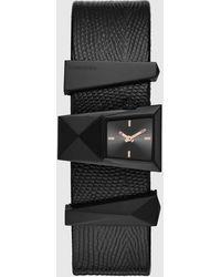 DIESEL - Dz5586 Caterina Three-hand Black Leather Watch - Lyst