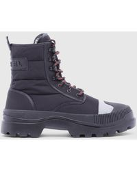 DIESEL - Hybrid Lace-up Boot With Lug Sole - Lyst