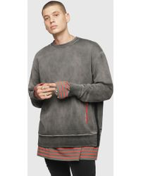 f83e97980 DIESEL - Treated Cotton Sweatshirt - Lyst